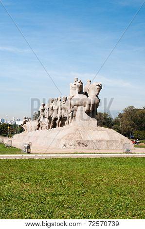 Bandeiras Monument Sao Paulo Brazil