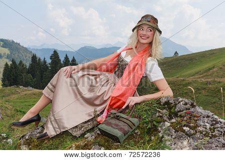 Traditional Dirndl Fashion Portrait