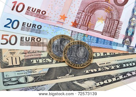 Euros, Dollars And Roubles