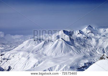 Snowy Mountains In Mist