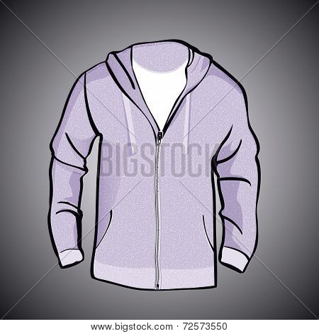 Jacket  with Hood  or sweatshirt  template
