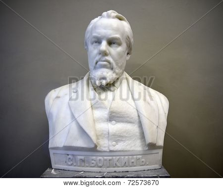 Marble Bust Of Sergei Botkin By Sculptor Mark Antokolsky