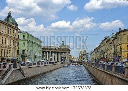 Historical Part Of Saint Petersburg, Russia