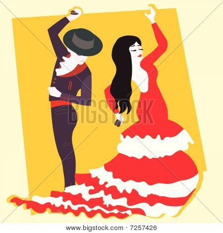 typical spanish flamenco