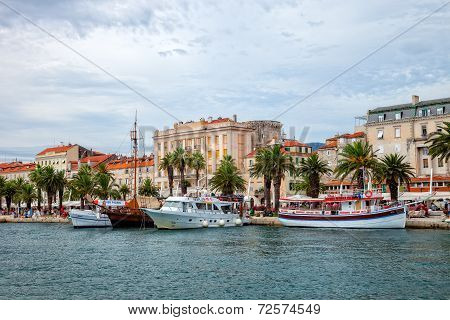 Architecture Of The Old Town In Split, Croatia