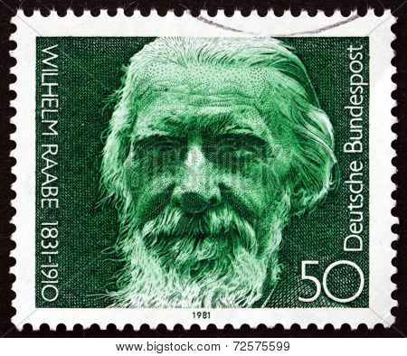 Postage Stamp Germany 1981 Wilhelm Raabe, Novelist And Poet