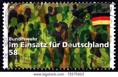 Postage Stamp Germany 2013 Bundeswehr - Working For Germany
