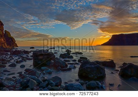 The Talisker bay after sunset