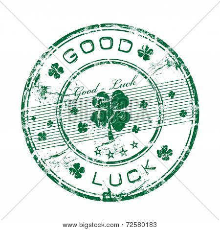 Good luck grunge rubber stamp