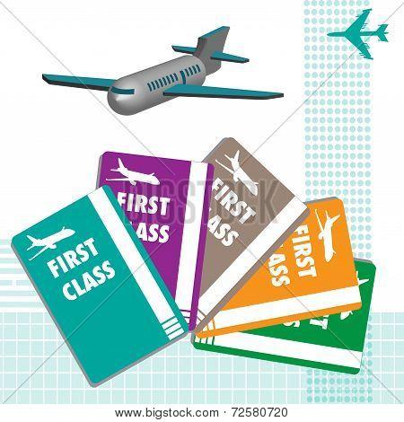 First class plane tickets