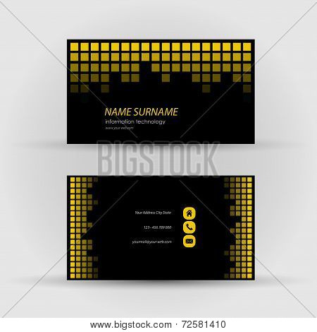 Set of modern vector business card template