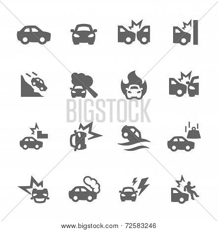 Car Crashes Icons
