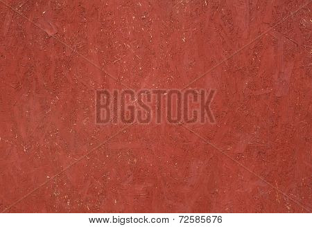 Texture Panel Of Chipboard, Painted In Red