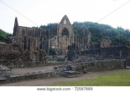 Tintern abbey cathedral ruins.
