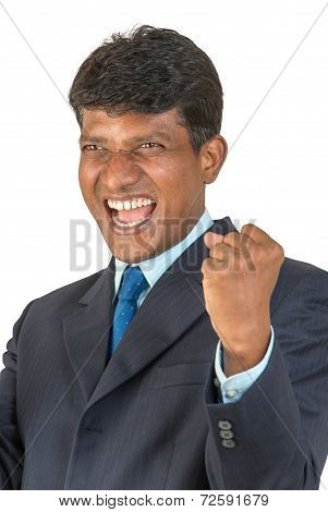Thrilled Indian man