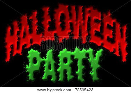 Halloween Party Title Art