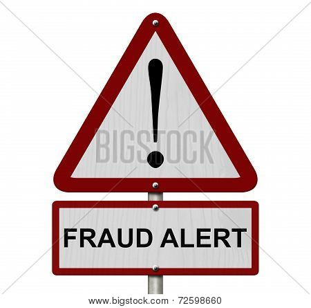 Fraud Alert Caution Sign