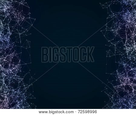 Digital Background With Cybernetic Particles