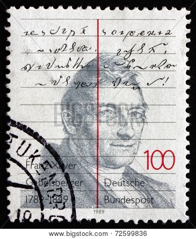 Postage Stamp Germany 1989 Franz Xaver Gabelsberger