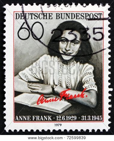 Postage Stamp Germany 1979 Anne Frank, Victim Of The Holocaust