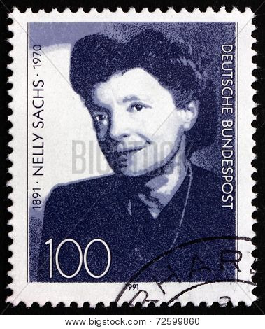 Postage Stamp Germany 1991 Nelly Sachs, Poet And Playwright