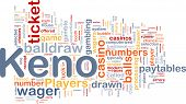 pic of keno  - Background concept wordcloud illustration of gambling betting gaming - JPG