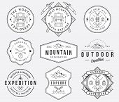 picture of survival  - Exploration vector badges and labels for any use - JPG