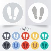 stock photo of soles  - Imprint soles shoes sign icon - JPG