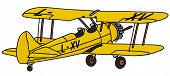stock photo of biplane  - Hand drawing of a biplane  - JPG