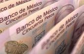 stock photo of pesos  - Mexican Pesos Closeup  - JPG