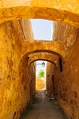 image of gozo  - An Alley in the old city of Victoria Gozo Island Malta - JPG