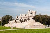 foto of bandeiras  - The Bandeiras Monument in ibirapuera park Sao Paulo Brazil - JPG