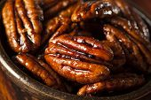 picture of pecan  - Homemade Candied Pecans with Cinnamon and Sugar - JPG