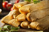 pic of sweet-corn  - Homemade Corn and Chicken Tamales Ready to Eat - JPG