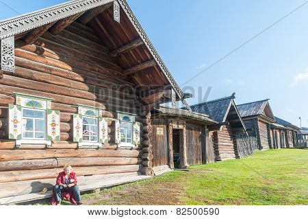 Wooden estate of peasant of 19th century