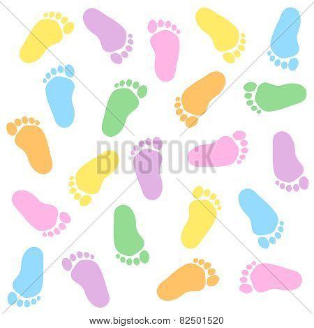 Baby Footprints Seamless