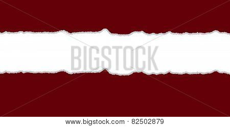 Red And White Torn Paper Background
