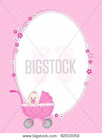 Baby Announcement Card Pink