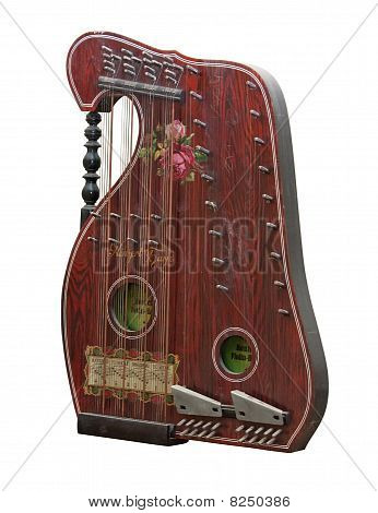 Vintage alpine zither