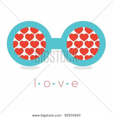 Hearts Reflection Eyeglasses.