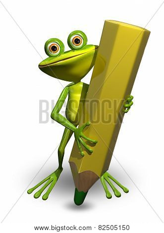 Frog And Pencil