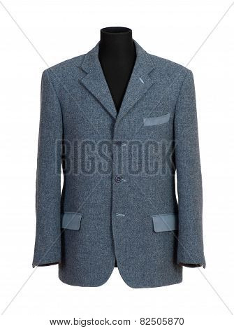 Mannequin In Elegant Gray Business Suit