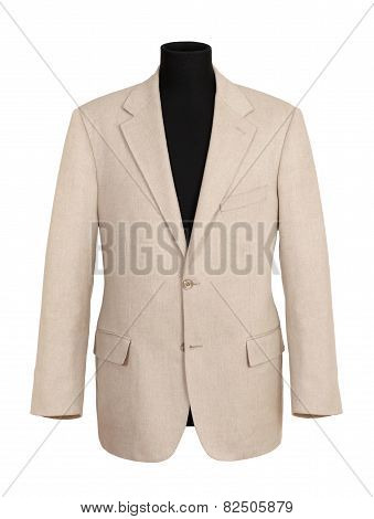 Off White Corporate Coat On Black Mannequin