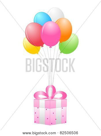 Gift And Balloons