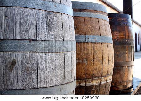 Old Wooden Barrels