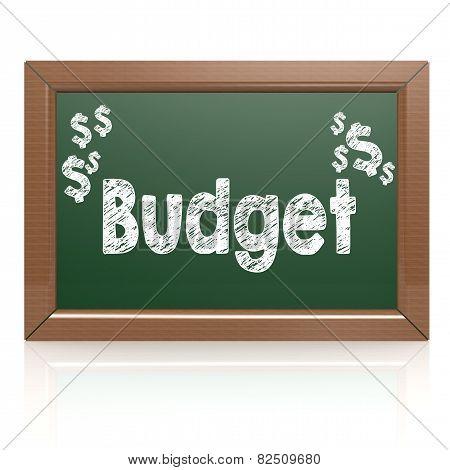 Budget Word Written On Chalkboard