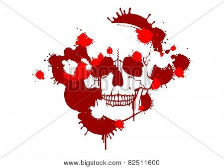 Blood smudges creating a skull silhouette (raster version)