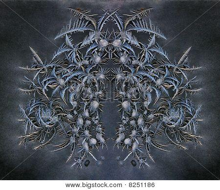 Frosty Blue Ice Design