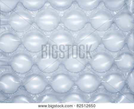 Close up of bubble wrap used for shipping fragile goods