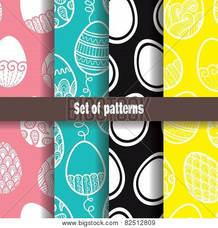 abstract Easter pattern collection.